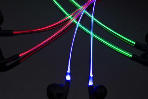 Светящиеся вакуумные наушники EL от интернет-магазина Music-led. Качественный звук, оригинальный дизайн! Скидка 67%