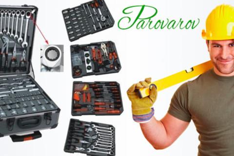 Набор инструментов Kraft Hoff из 186 предметов с трещоткой (с 72 зубцами) в разборном алюминиевом кейсе от интернет-магазина Parovarov Kitchen. Скидка 71%