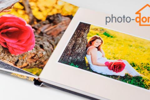 Печать фотожурнала формата A4 на 12 страниц, фотокалендаря и фотокниги в твердом переплете на 26 страниц от компании Photo-doma. Скидка 50%