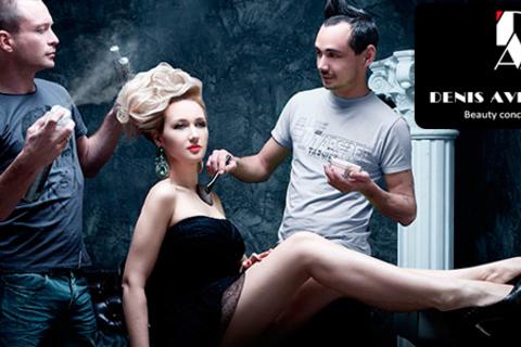 Стрижка, укладка и окрашивание On the Verge of Color от топ-стилистов студии красоты Denis Averianov. Скидка до 75%