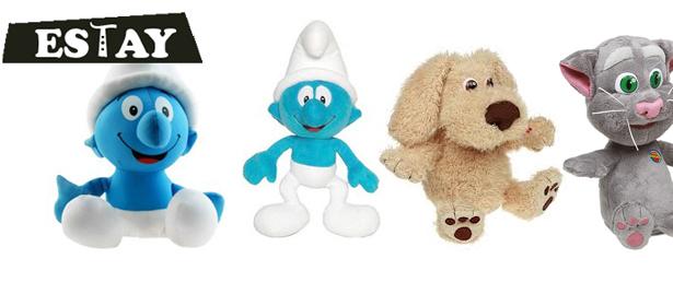 Говорящие игрушки-повторюшки Смурфики от интернет-магазина estay.ru: одна или две игрушки. **Скидка до 57%**